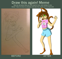 Kimi before and after by xFoxblaze