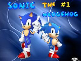 Sonic the #1 Hedgehog by SonicXBoom123