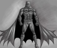 Batman digital sketch by dushans