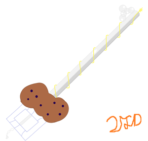 MLKH Derpy's Keyblade The Bubbly Muffin V2 by Tw1st3dSoul
