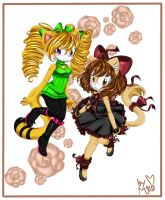 AT: Two Pretty Kitties by mino-the-cat