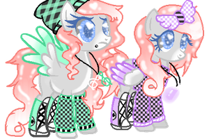 twin sister mlp adopts  -closed- by pastelbubbles