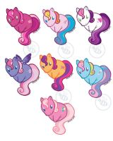MLP G3Core7 sticker designs by Bee-chan