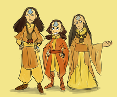 Avatar- Airbender Ladies by schellibie