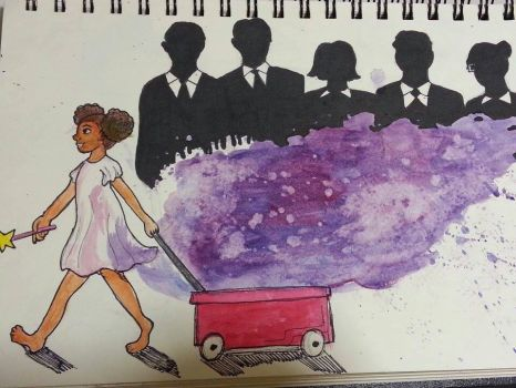 Day 6- Skirt, Stain, Crowd by AviiCeruleanSkies