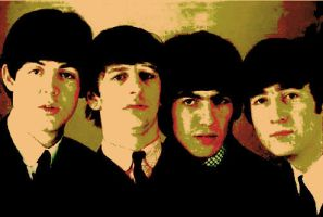 The Beatles Color Manip. 3 by WilburRobinsonsGirl