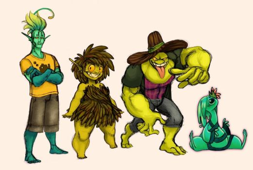 My Swamp Monsters by noodle-doodle