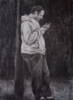 Man with mobile phone by EnigmaticElocution