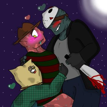The 13th 3 Way (Freddy x Jason(s)) by YaoiLover113