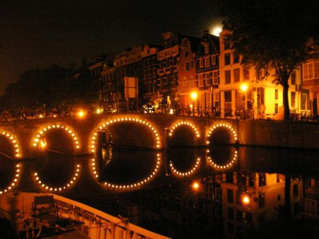 Amsterdam at night by Loiner