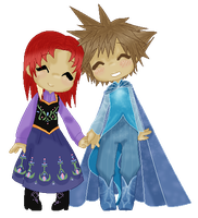 Chill .:Roxanne and Sora:. by Xella-15
