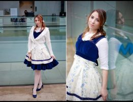 Floral Cobalt Lolita JSK by ClamWings