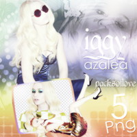 Png pack #16 iggy azalea by blondeDS