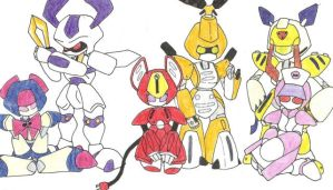 Some of the Medabots.. by Kjbionicle