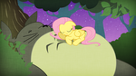 Fluttershy and Totoro by SamuelLAssassin
