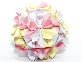 cherry blossom kusudama by leezarainboeveins
