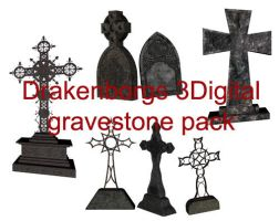 Gravestones pack by 3DigitalStock