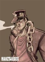 Jotaro Kujo- Sketch by hanzthebox