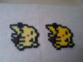 Pikachu Hama Beads by pchansey
