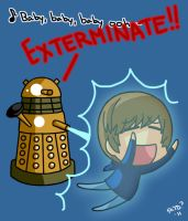 Dalek vs Bieber by KimYoshiko