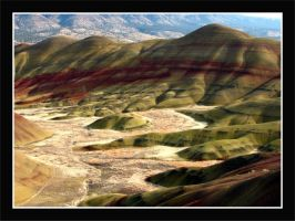 Painted Hills - full view by La-Vita-a-Bella