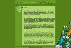 Portfolio Site Layout by cb-smizzle
