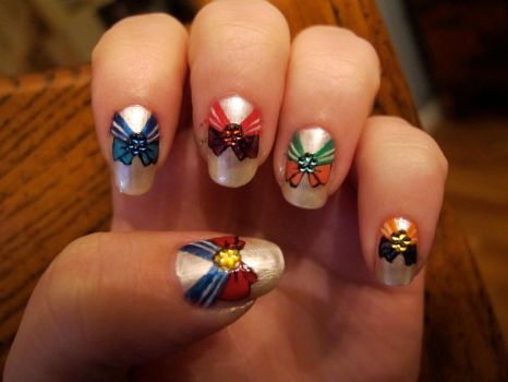 Sailor Moon Nail Art by WimskryBee