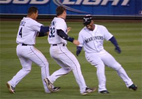 Griffey prepares to be Mobbed by Bspacewiz2
