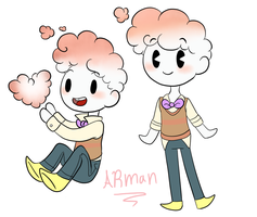 Arman chibies by TheLittlehoneybee