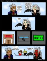 Ansem and Sephiroth - Tanning by EsperAqua