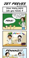 Jet Peeves Ep. 3 How many pens (do you have) ? by ChongComics