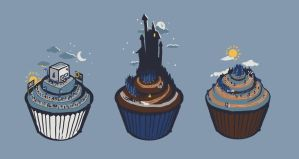 Cupcake Trio by Cpresti