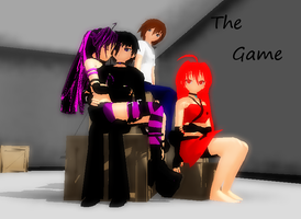 MMD Comic- The Game- Title page by khftw