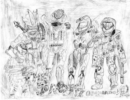 Halo version of me and my JROTC buds by cboxninja1994