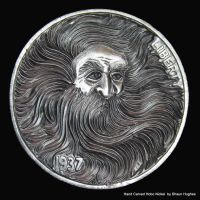 Man of the Forrest Craved Hobo Nickel by shaun750
