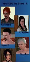 My OCs in Sims 3 by PoesRaven1990
