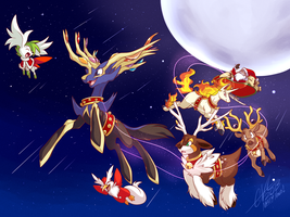 Xerneas, Lead the way! by BritishStarr