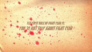 First Rule of Fight Club by MariuxV