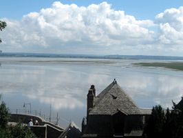 Mont Saint-Michel the view by ClairBlueArt