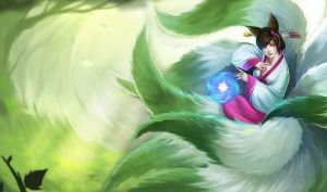 Dynasty Ahri chinese artwork by Aveldine
