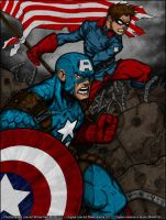 Captain America and Bucky by PokeTheCactus