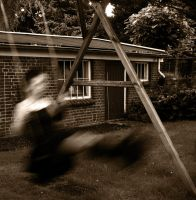 On the swings by Lyvyan