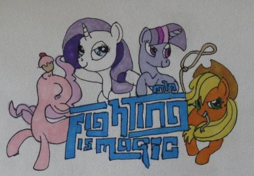 Fighting is Magic drawing by IronBrony