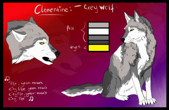 Clementine Reference Sheet 2017 by Lupa-Fratelli