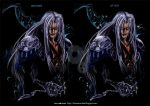 Sephiroth : Born in the dark (before/ after) by Rinoaxyzriana