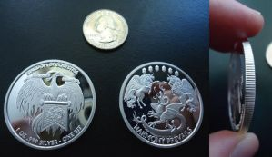 For Sale - 1 Silver Bit Equestrian Coin by PeppermintShine