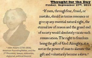 Thought for the Day - September 27th, 2013 by ebturner