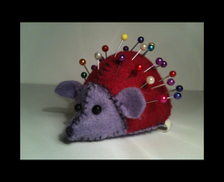 Hedgehog Pin Cushion by WhispMI21