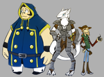 Bols, Paran and Shawes by ComX-1