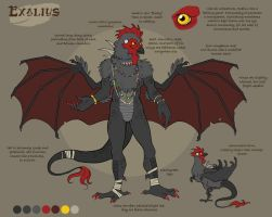Exalius Ref Sheet by aureath